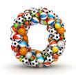 Letter O, gaming balls alphabet