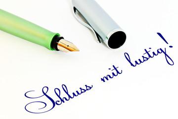 Füller - Schluss mit lustig!