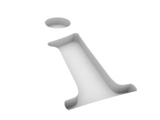 Info Symbol vertieft