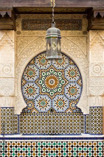 Leinwanddruck Bild Moroccan fountain