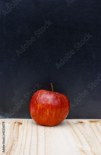 Back to school apple chalkboard copy-space