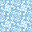 seamless pattern blue flowers on white in russian style Gzhel
