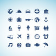 Set of icons for tourism
