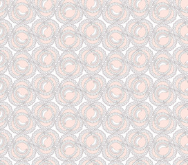 seamless pattern with lacy flowers on white background, Print
