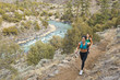 Hispanic runners training in remote area