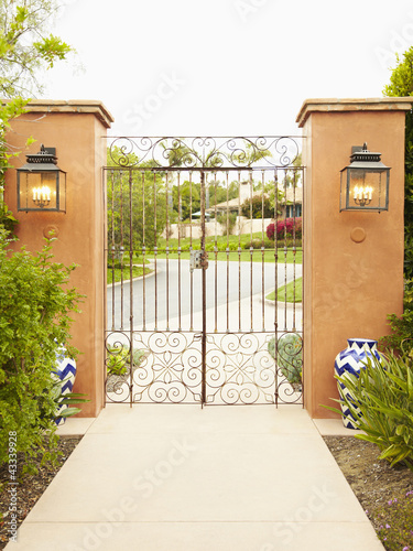 Iron gate and pillars