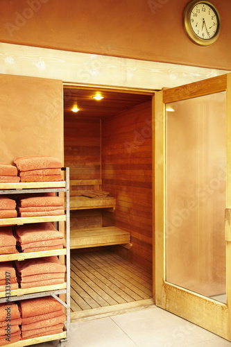Doorway into sauna