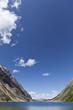 Blue sky over Upper Geraldine Lake