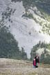Family hiking on Parker Ridge