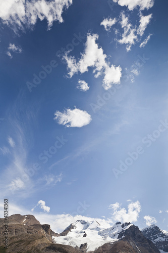 Blue sky over Mount Andromeda