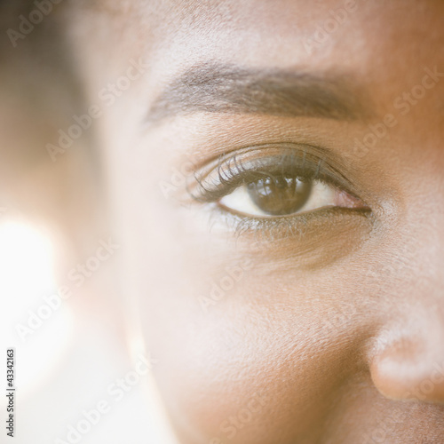 Close up of Black woman's eye