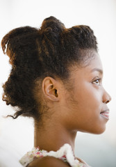 Profile of smiling Black woman