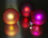 Festive colored Christmas ornaments