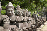 Statues in Angkor Thom temple