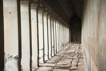 Pillars in Angkor Wat temple