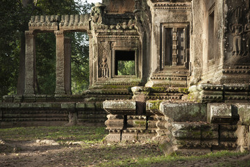 Ruins in Angkor Wat temple