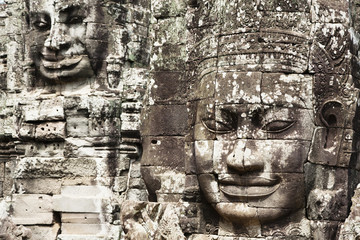 Stone faces in Avalokiteshvara, Bayon Temple