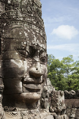 Stone face in Avalokiteshvara, Bayon Temple