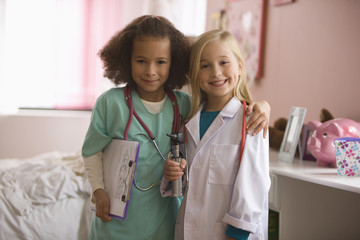 Girls playing doctor