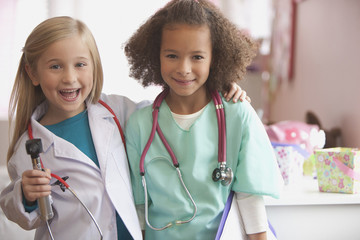 Girls playing doctor