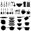 Kitchen utensil icon set - 43346371