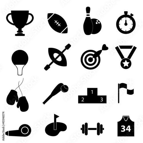 Sports related icon set