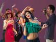 sexy woman dancing in night club