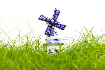 Dutch mini porcelain windmill