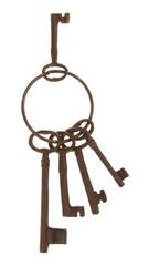 Antique keys on a ring