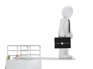 businessman stand on board