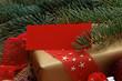 Weihnachtsgeschenk mit Karte