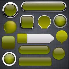 Mossy high-detailed modern buttons.
