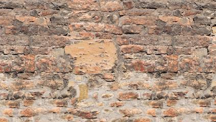 Ziegelsteinwand