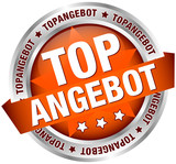 "Button Banner ""Topangebot"" orange/silber"