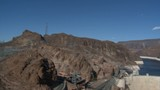 Mid-aerial view of the Hoover Dam