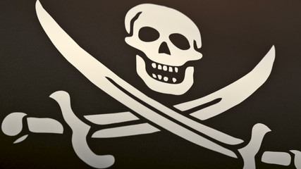 Animated flag with a pirate skull on it. Perfect loop.
