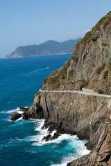 beautiful coastline in Cinque Terre, Liguria, Italy