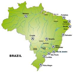 Fussballkarte von Brasilien