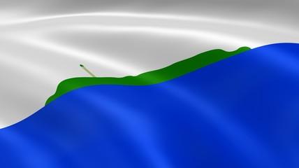 Navassa Island flag in the wind