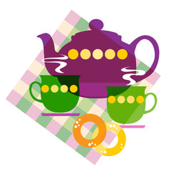 Set of the tea things