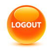 Logout Orange Button