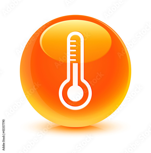 Thermometer Orange Button
