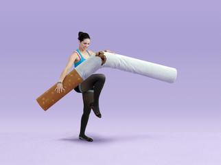 Briser une cigarette
