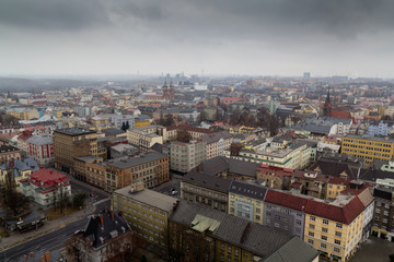 Ostrava city - outlook from the New City Hall to downtown