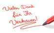 Stift & Schrift-Serie: Vielen Dank für Ihr Vertrauen! rot