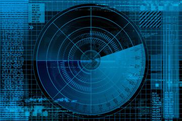 Abstract radar illustration