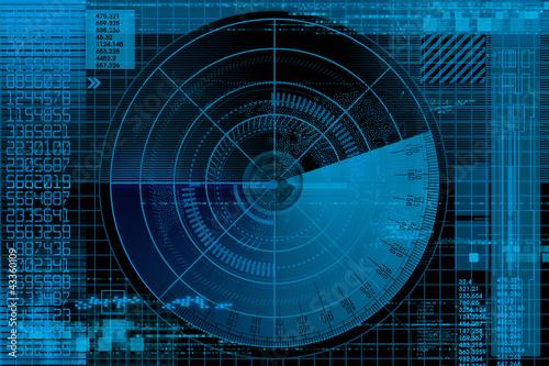 Abstract radar illustration - 43360109
