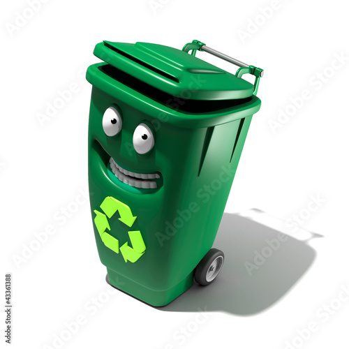 poubelle recyclage cartoon photo libre de droits sur la banque d 39 images image. Black Bedroom Furniture Sets. Home Design Ideas
