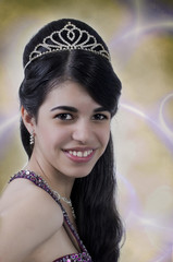 Glamorous young Latino woman