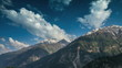 Timelapse. India.Mountains and clouds.